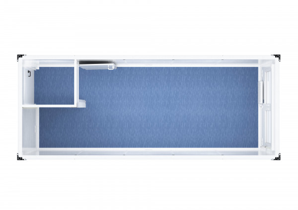 Raumcontainer Standard mit Windfang - 20 ft