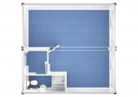 Duoanlage mit Windfang, WC und Dusche - 20 ft - 6 x 6 m