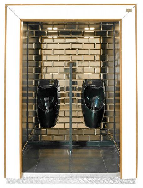 TOI® DeLuxe black Urinal