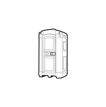 Toilettenkabinen