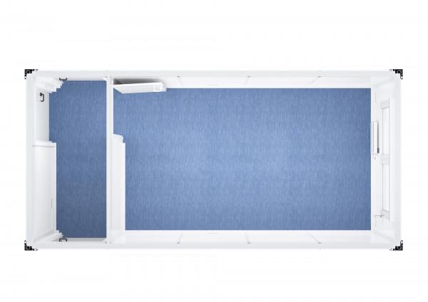 Raumcontainer Standard mit Flur - 20 ft (6 x 3 m)