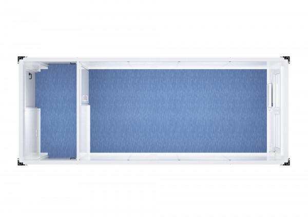 Raumcontainer Standard mit Flur - 20 ft